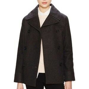Kate Spade Saturday Wool Double Breasted Peacoat